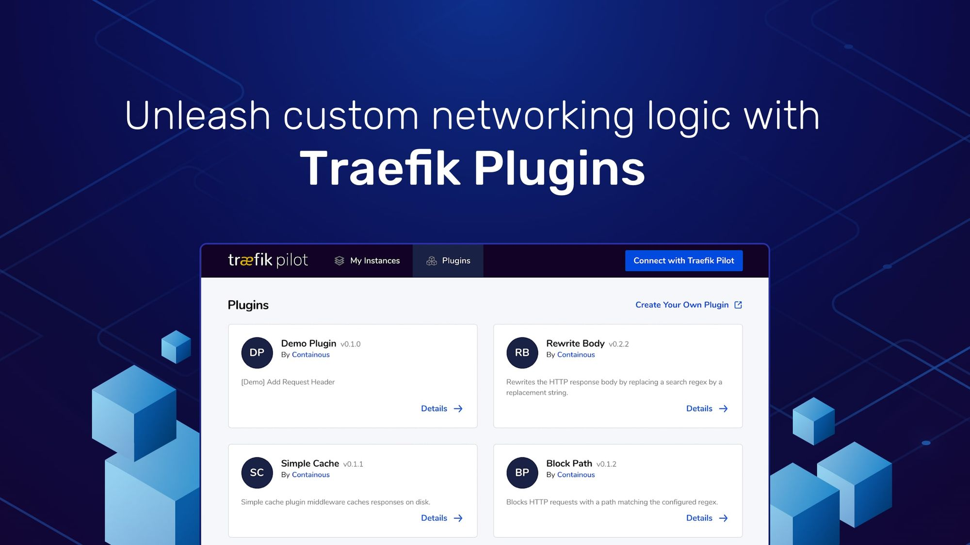 Unleash custom networking logic with Traefik Plugins