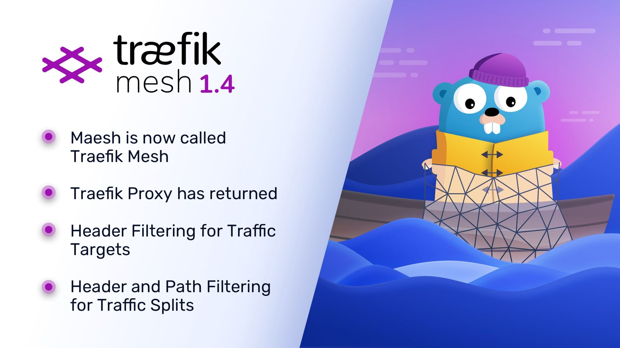 Announcing Traefik Mesh 1.4 - New Name, New Features