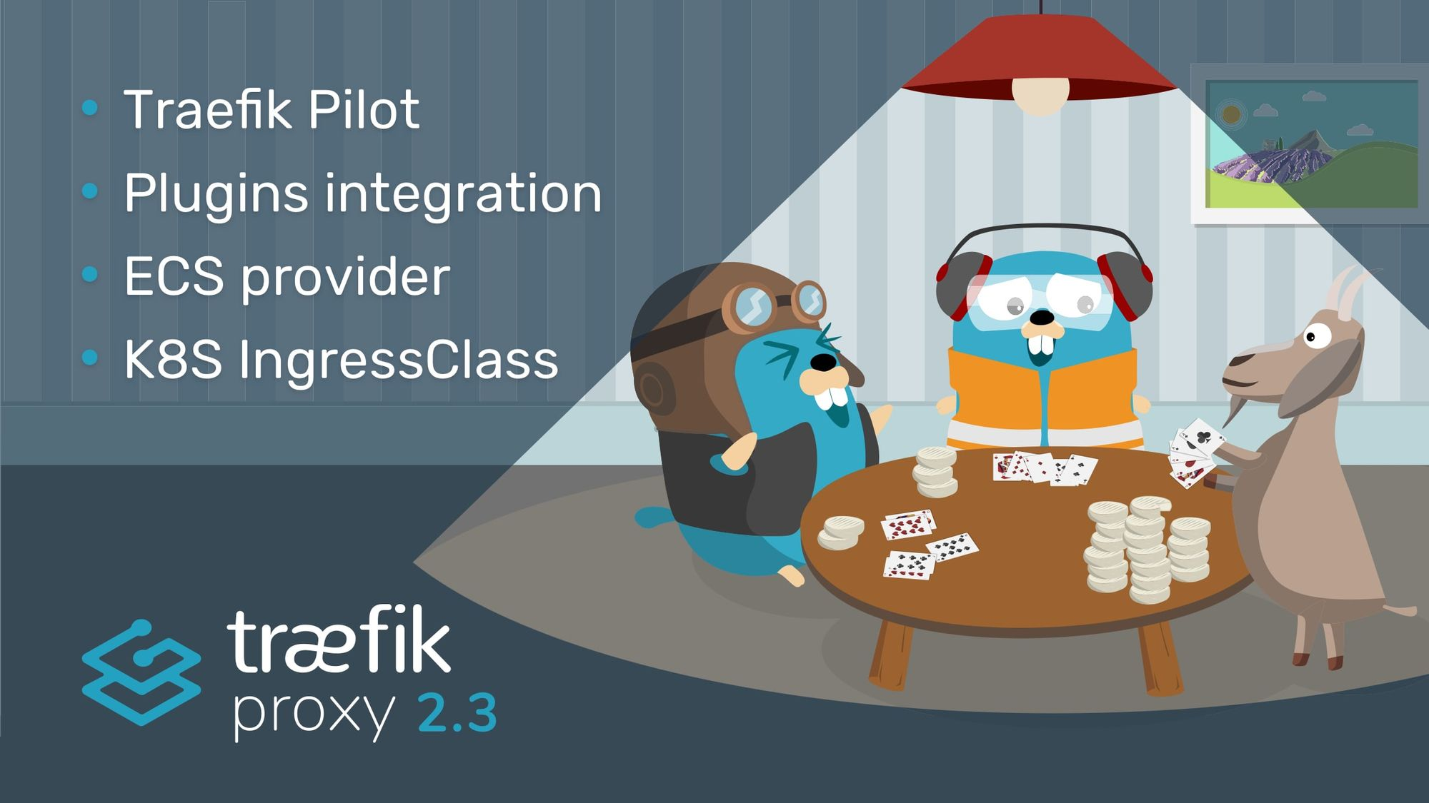 Traefik 2.3 features integration with Traefik Pilot, Middleware Plugins, ECS provider, and support for K8S IngressClass