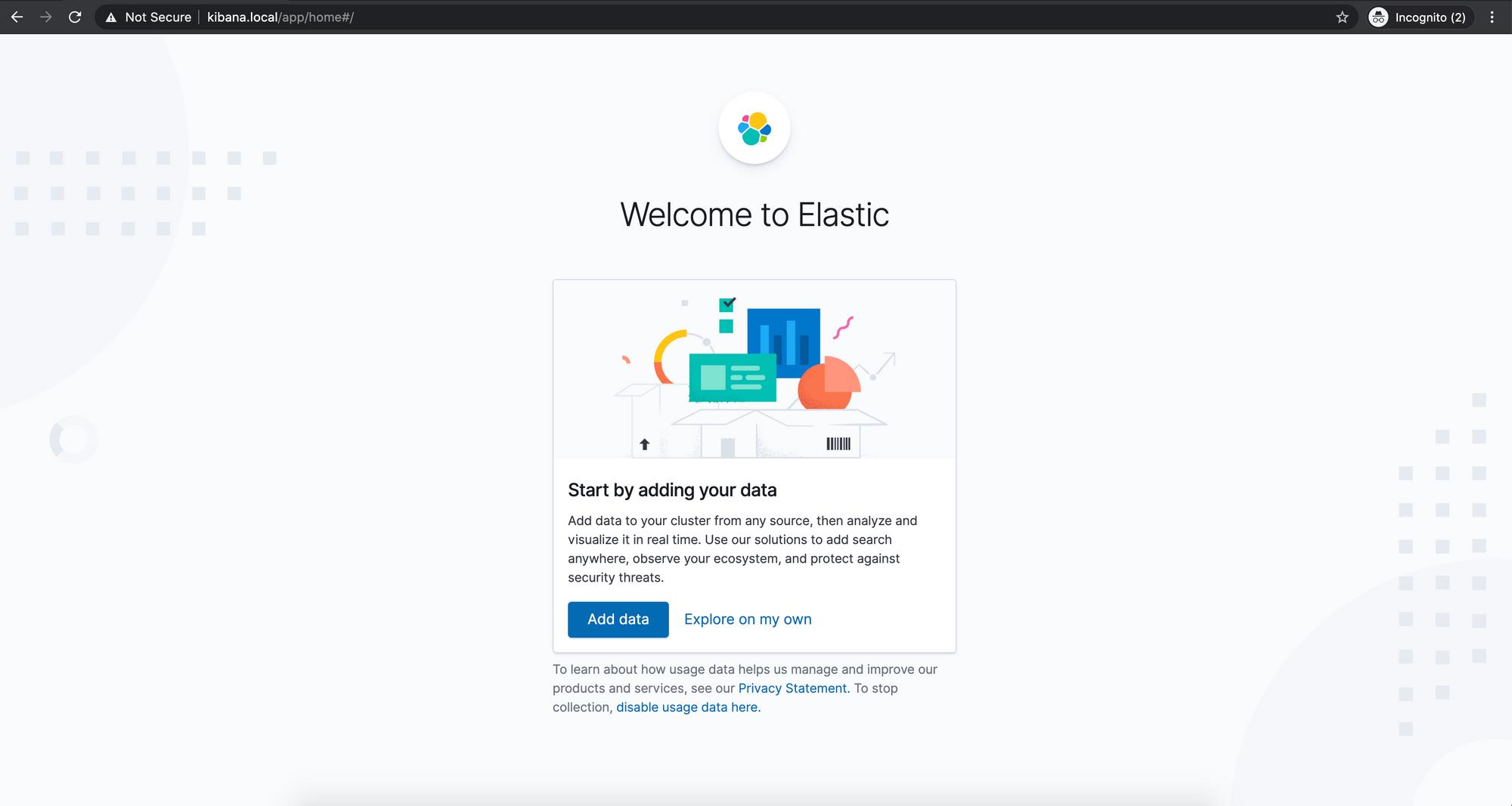 Screenshot of the Elastic Dashboard