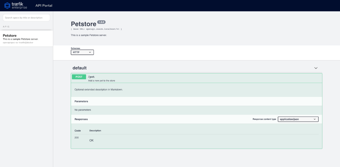 API Portal Page